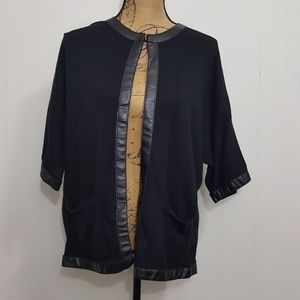 Chicos Open Front Cardigan Sweater